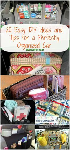 20 Easy DIY Ideas and Tips for a Perfectly Organized Car - Very good ideas! 20 Easy DIY Ideas and Tips for a Perfectly Organized Car Organisation Hacks, Storage Organization, Organizing Ideas, Car Storage, Car Organization Kids, Linen Storage, Car Cleaning, Cleaning Hacks, Organizer Auto