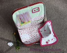 The home in a suitcase for a baby doll by #Tulale