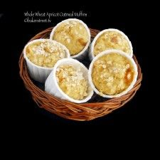 Whole Wheat Apricot Oatmeal Muffins Baker Street3