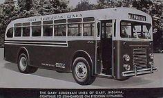 Gary Suburban Lines, Valparaiso Line, 1948 - Valparaiso, Indiana by Shook Photos, via Flickr