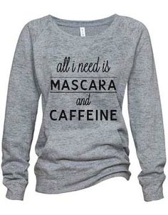 """Mascara"" Athletic Heather Burnout Fleece Sweatshirt $37"