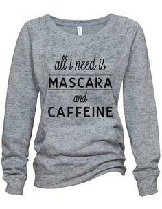 """""""Mascara"""" Athletic Heather Burnout Fleece Sweatshirt"""