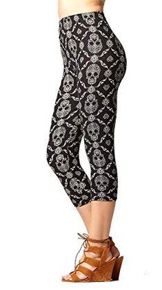 ebe22287a7fcd Amazon.com: Premium Ultra Soft Capri Leggings - High Waist - Solid and  Printed