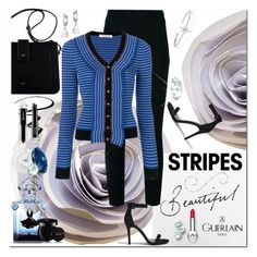 """""""Beautiful Stripes for Season's Change"""" by jacque-reid ❤ liked on Polyvore featuring Philosophy di Lorenzo Serafini, Forever 21, Eyeko, Kate Spade, Guerlain and APM Monaco"""