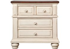 Really like this nightstand!  picture of Berkshire Lake White Nightstand  from Nightstands Furniture