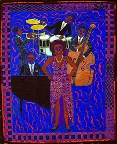 Faith Ringgold | Jazz Stories quilt