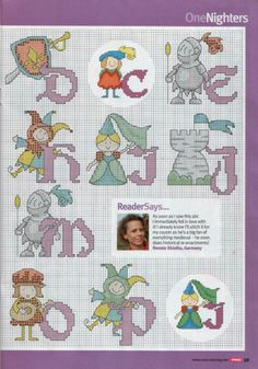 Medieval alphabet part 2 free cross stitch patterns