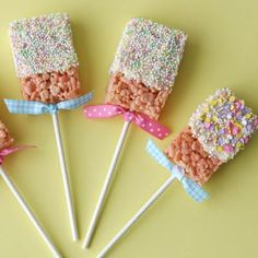 spring rice krispies pops