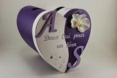 Urne de mariage Violette et blanche Orchidée | L'atelier de Claraméline