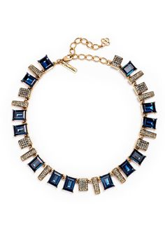 Pin for Later: Rent the Runway's Capsule Collection Is Red Carpet Worthy Rent the Runway 5Y Collection Oscar de la Renta Blue Shadow Necklace ($150 rental)