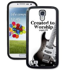 Created To Worship Guitar Galaxy S4 Case - Galaxy S4 TrueCase - Galaxy Cases