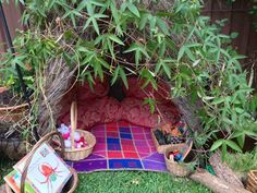 "Gorgeous reading hideaway outdoors at Puzzles Family Day Care ("",)"
