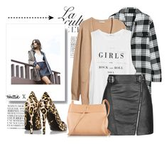 """""""Rock & Roll Stole My Soul..."""" by hattie4palmerstone ❤ liked on Polyvore featuring By Zoé, DKNY, H&M, MANGO, Topshop, Diane Von Furstenberg and Kara"""