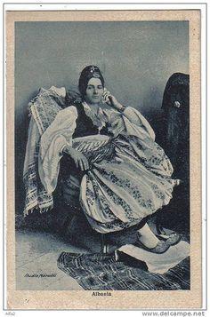 Skadar, Cкадар, Shkodër, Shkodra, Scutari. Kostum femëror. Koleksioni Marubi. Northern Albanian woman costume. |