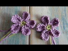 (crochet) How To Crochet Flower Chains - Yarn Scrap Friday - YouTube