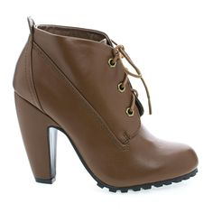 Bamboo Womens Mozza-27L Round Toe Classic Lace Up Lug Sole Platform Ankle Bootie * Want additional info? Click on the image.