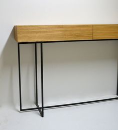 Modern console with two drawers with full extension. The console can be ordered in any size, in other colour and in any species of wood. Flur Design, Entryway Tables, Modern, Etsy, Furniture, Home Decor, Nordic Style, Set Of Drawers, Cloakroom Basin
