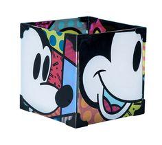 Disney by Britto: Mickey And Minnie Glass Votives Set