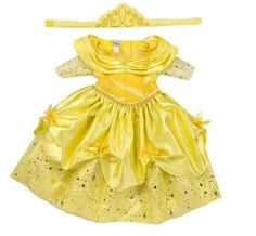Disney Girls Baby BELLE BEAUTY & the BEAST costume dress up Size 3 6 18 Mo Gown
