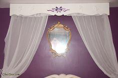 ciel de lit et miroir baroque