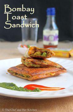 Bombay Masala Toast Sandwich | Potato stuffed Sandwich Recipe