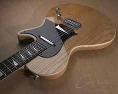 Case Guitars J1 Flat top... like the light reflection on the humbucker cover