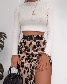 Added another leopard print skirt to my life – they go with SO much wearing all… – For Women Street Style Outfits, Mode Outfits, Stylish Outfits, Fashion Outfits, Womens Fashion, Vans Outfit, Look Fashion, Autumn Fashion, Fashion Rings