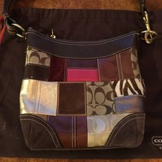 Coach Patchwork bag Gently used Patchwork bag. All leather and suede in great condition. Immaculate. Comes with dust bag and was used a handful of times Coach Bags Shoulder Bags