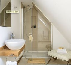 Shower in eaves