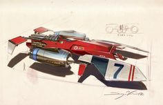 Race Ship Illustration by Dwayne Vance | Abduzeedo Design Inspiration