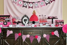 DIY Barbie Inspired Deluxe Birthday Party  by CupcakeExpress, $35.00