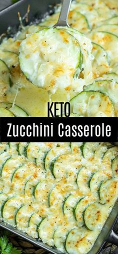 This creamy, cheesy Baked Zucchini Casserole is made with fresh zucchini, rich cream, and lots of cheese for the ultimate zucchini bake! It is an easy summer vegetable casserole that makes a great rec is part of Zucchini casserole - Zucchini Casserole, Vegetable Casserole, Keto Casserole, Casserole Recipes, Cheesy Zucchini Bake, Great Recipes, Low Carb Recipes, Cooking Recipes, Healthy Recipes