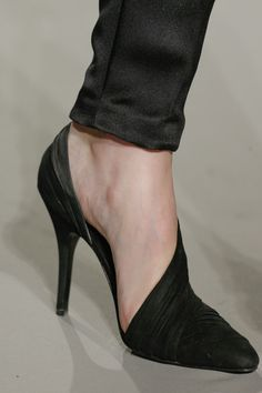 NYFW: Alexander Wang fall 2013, wrapped shoes - #shoes