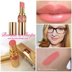 YSL Rouge Volupte Radiant Lipstick peach passion - Google Search