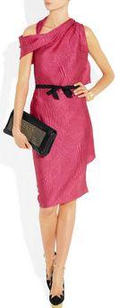 Roland Mouret Bonnie Asymmetric Silk-Blend Jacquard Dress
