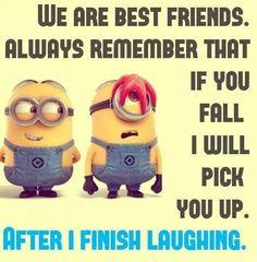 Minion meme best friend