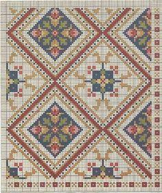 Cross Stitch Borders, Cross Stitch Flowers, Cross Stitch Charts, Cross Stitch Designs, Cross Stitching, Cross Stitch Embroidery, Embroidery Patterns, Cross Stitch Patterns, Tapete Floral