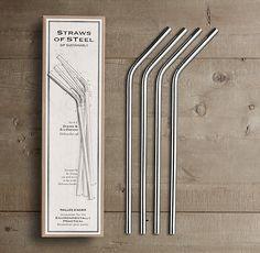 Stainless steel straws!  For milkshakes :)