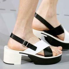 S/S14: SHOES : ARTICLES Block heel: Jil Sander spring/summer 2014