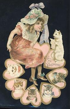Victorian Cats Valentine - Helena Maguire