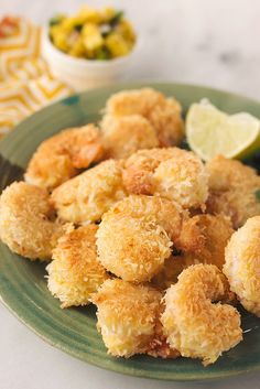Grain-Free Coconut Shrimp with Mango Salsa #recipe #paleo