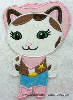 Sheriff Callie  Appliqued and Personalized by LittleStars11, $21.00