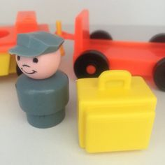 Vintage Fisher Price Airport Luggage Cars by EthelsGranddaughter