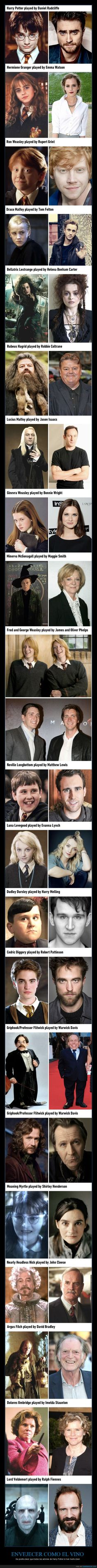 This is a way better then and now Harry Potter picture. Then the one I posted before.