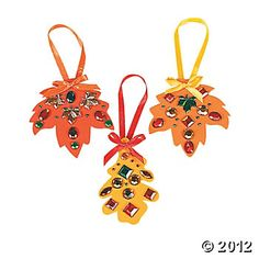 "Rhinestone Fall Leaf Craft Kit - Each grade can make a decoration for their own ""Harvest Tree"""
