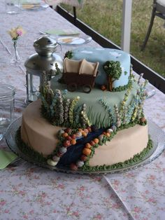 This cake inspired by Little House on the Prairie is so lovely!
