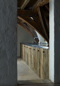 Interior design | decoration | home decor | Axel Vervoordt | Kitchen, wood, Penthouse in De Cluyse