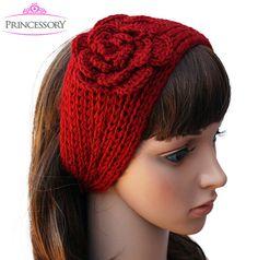 Womens Ear Warmer / Winter Headband  One size fits all 17 x 4.5  ( all measurements are approximate)  3 Flower            Winter/Fall Ear Warmer