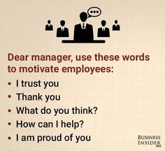 Phrases for Manager