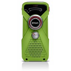 Eton FRX1 Hand-Powered Rechargeable Weather Radio with Flashlight - Green #emergencypreparedness